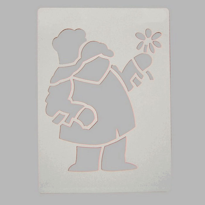 paddington stencil color white 20 x 28 cm washable