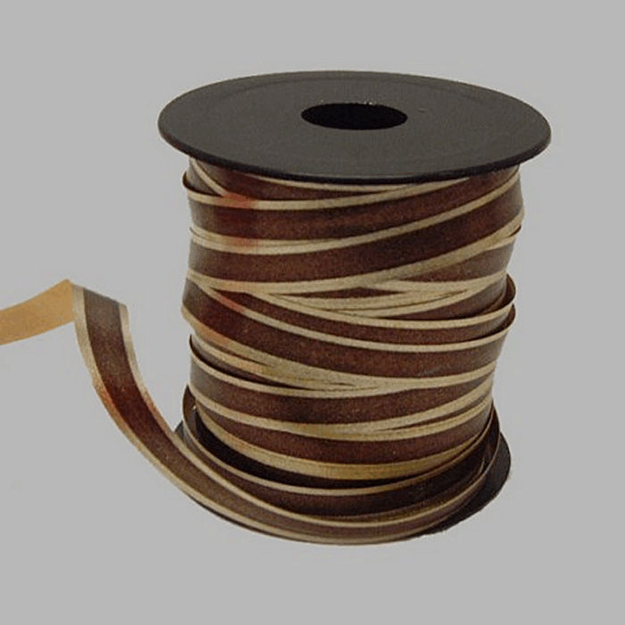 paper ribbon color brown-gold length 15 m width 10 mm