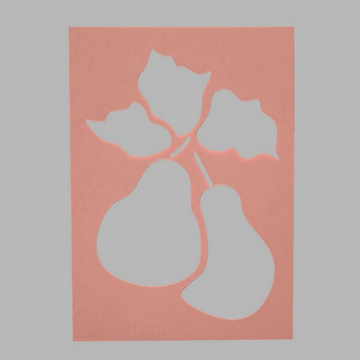 pears stencil transparent 15 x 21 cm washable