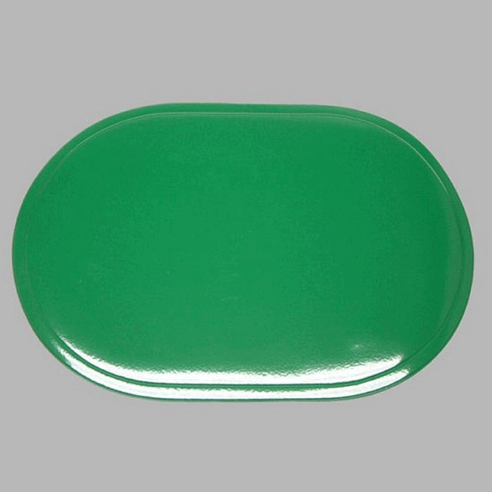 placemat shiny rounded green 30 x 45 cm