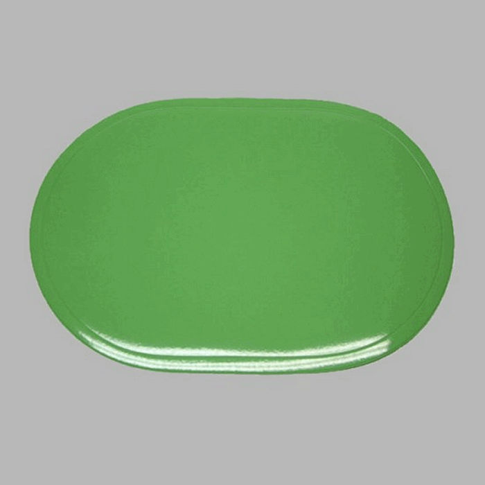 placemat shiny rounded light green 30 x 45 cm