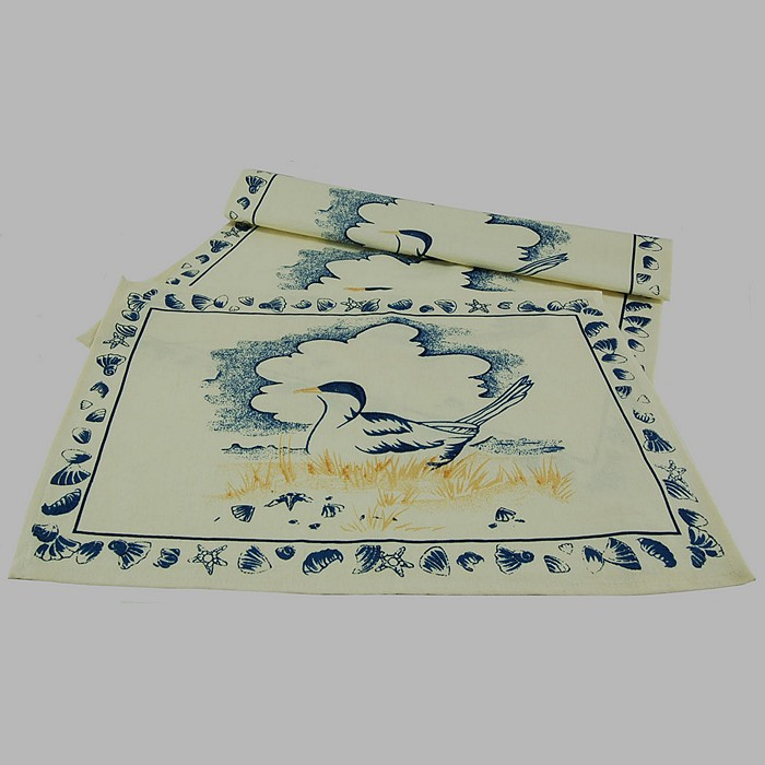 placemat of fabric Seagull 33 x 48 cm 1 piece