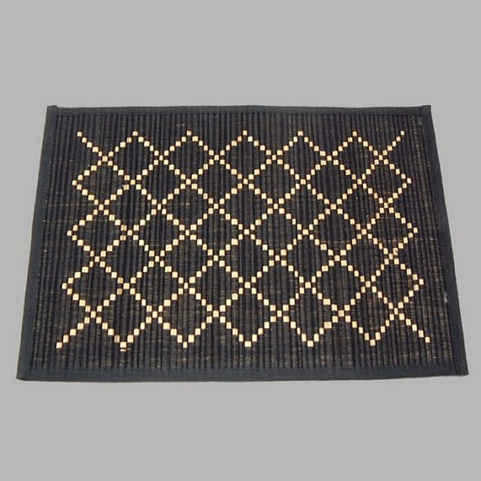 placemat cotton color black 33 x 48 cm