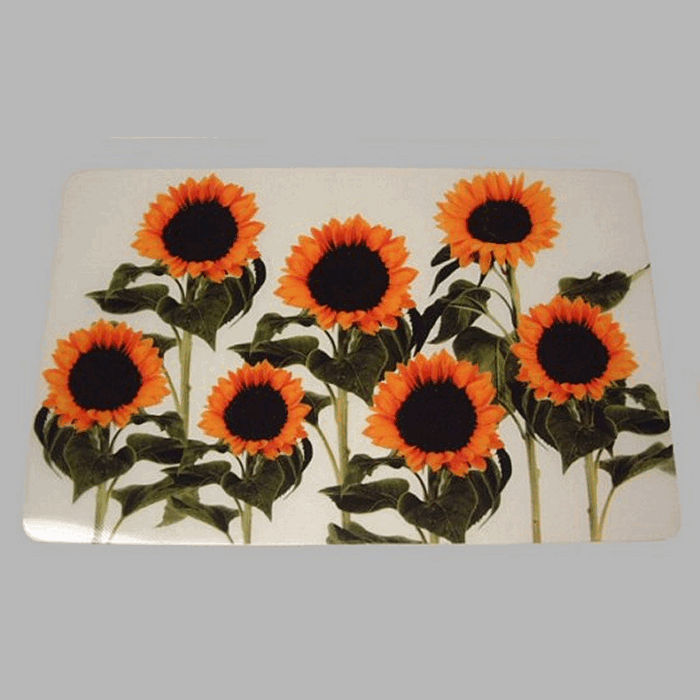 placemat transparent sunflowers 28 x 45 cm