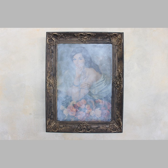 Picture frame with 87 x 66 cm poster