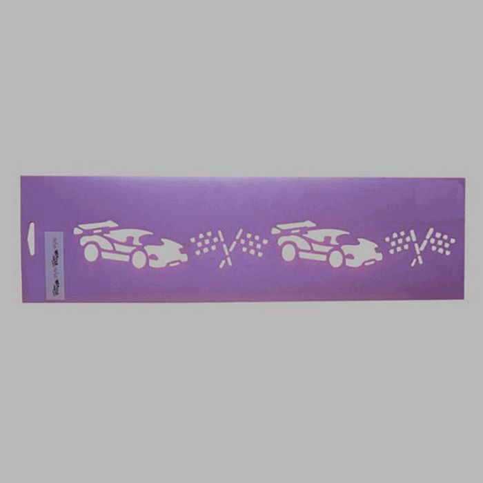race cars stencil color purple 12.5 x 45 cm