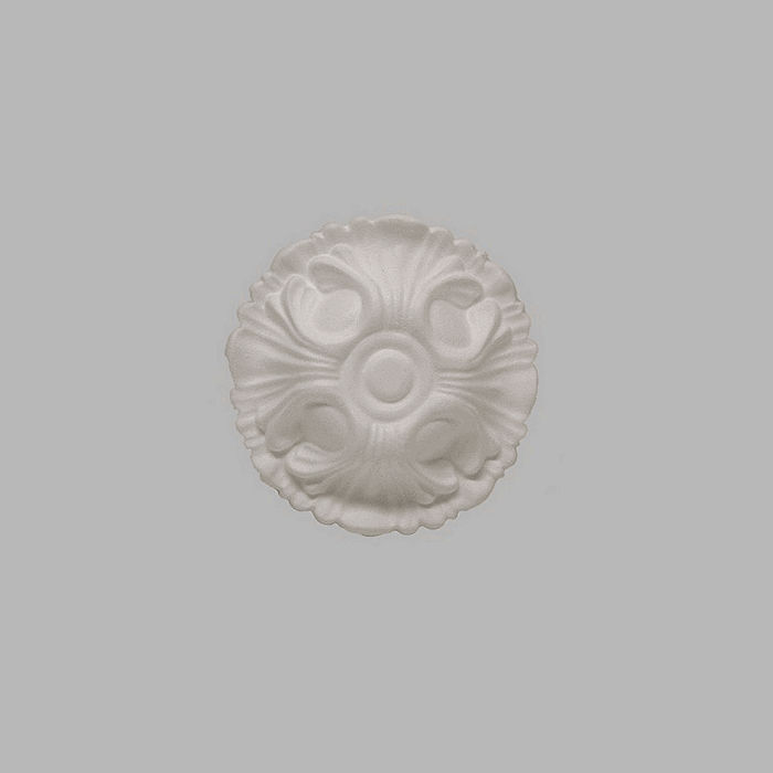 rosette polystyrene for ceiling color white 18 cm