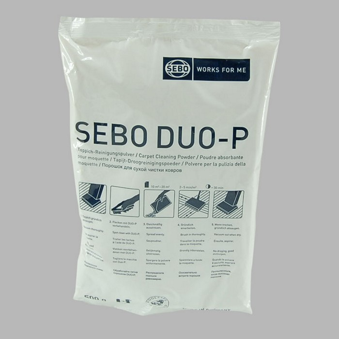 Sebo Duo cleaning powder for carpet and mats