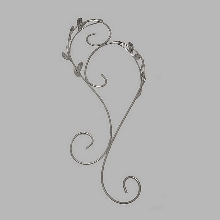 Ornamental Iron with leaves color silver 40 x 16 cm