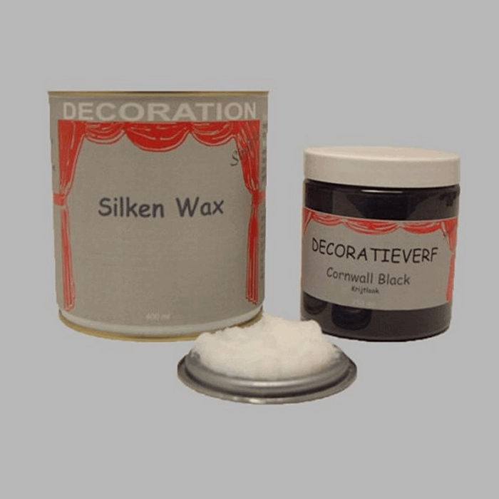 Silken wax (400ml) en krijtverf Cornwall Black(250ml)