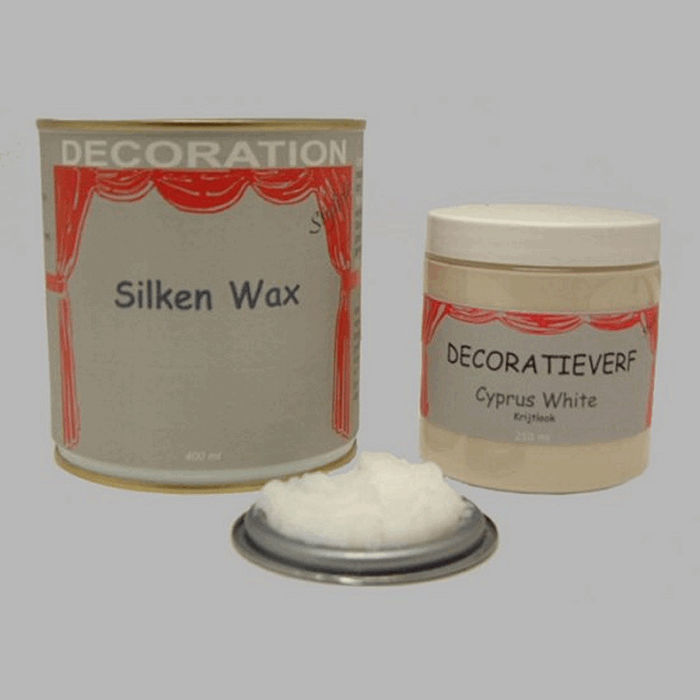 Silken wax (400ml) en krijtverf Cyprus White(250ml)