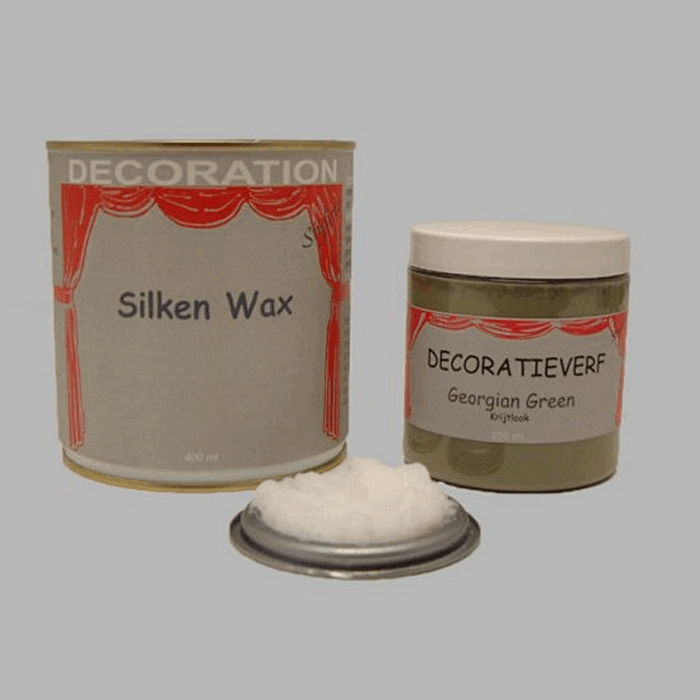 Silken wax (400ml) en krijtverf Georgian Green(250ml)