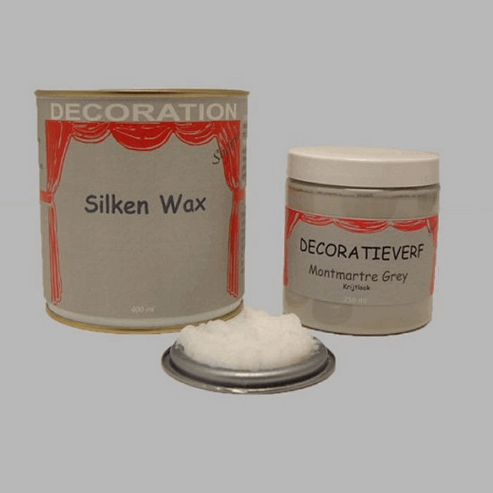 Silken wax (400ml) en krijtverf Montmartre Grey(250ml)