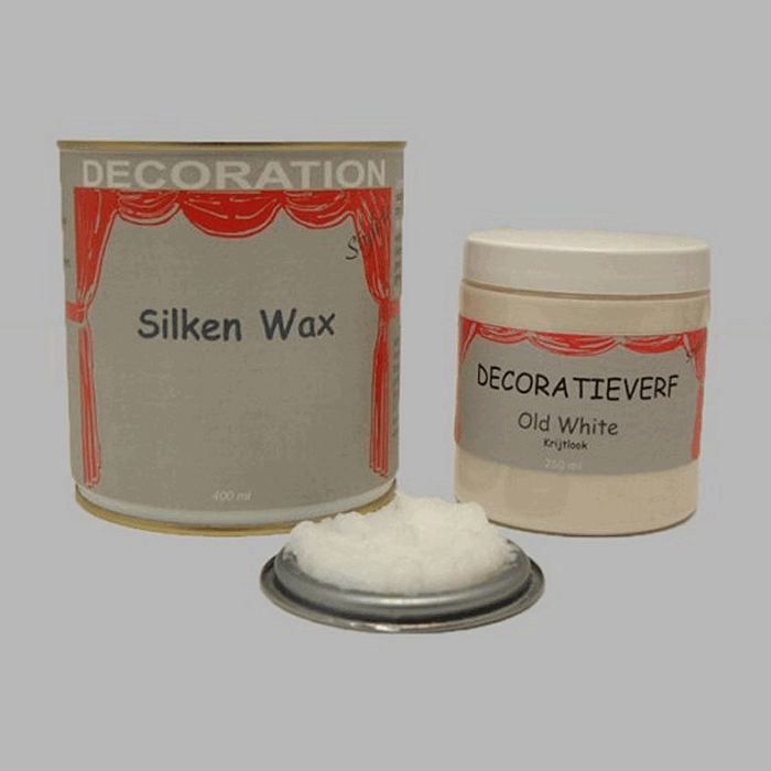Silken wax (400ml) en krijtverf Old White(250ml)