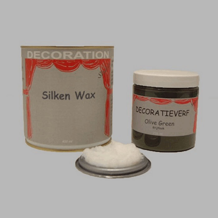 Silken wax (400ml) en krijtverf Olive Green(250ml)