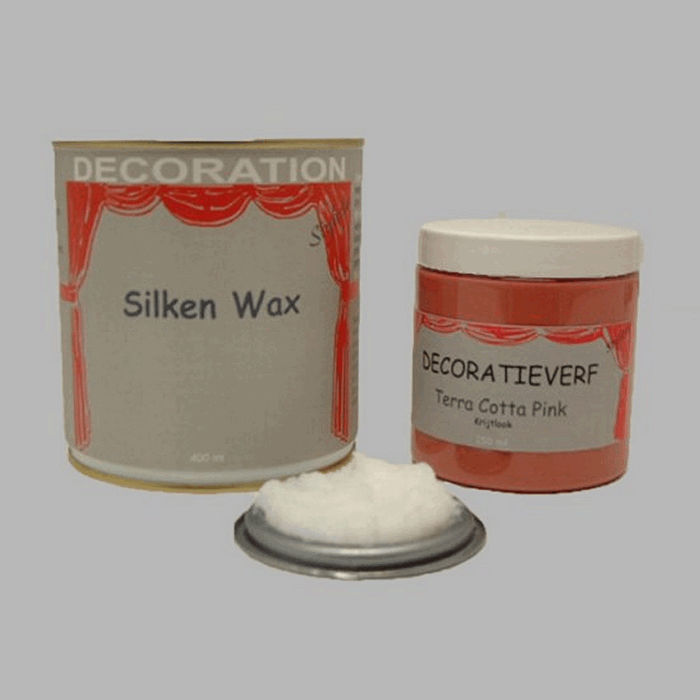 Silken wax (400ml) en krijtverf Terra Cotta Pink(250ml)