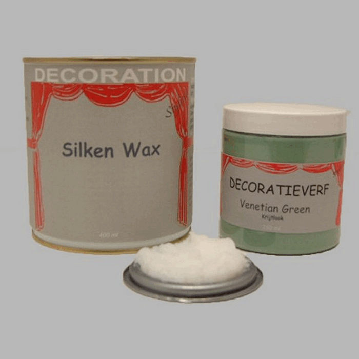 Silken wax (400ml) en krijtverf Venetian Green(250ml)