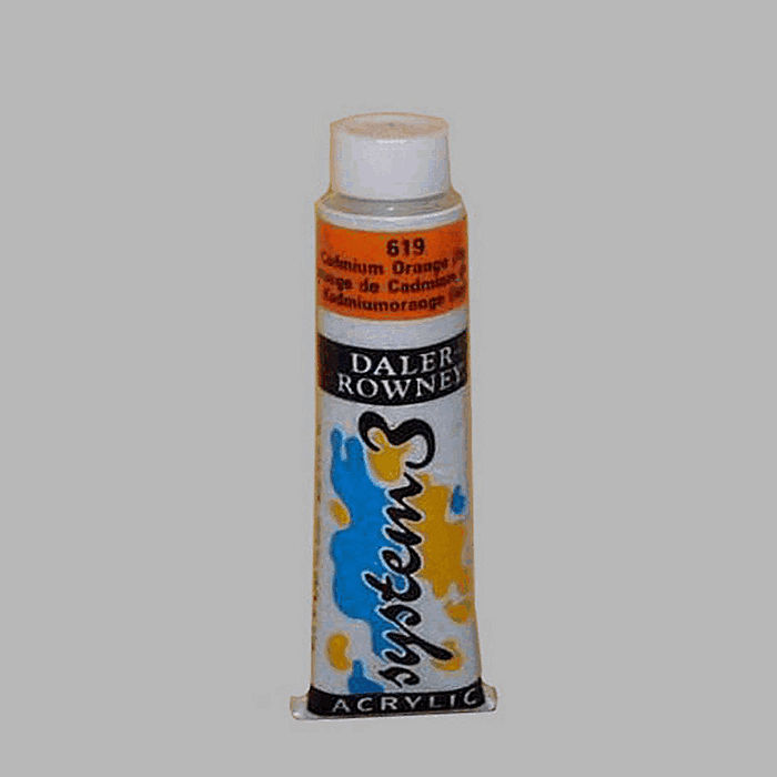 System 3 stencil paint cadmium orange contents 22 ml