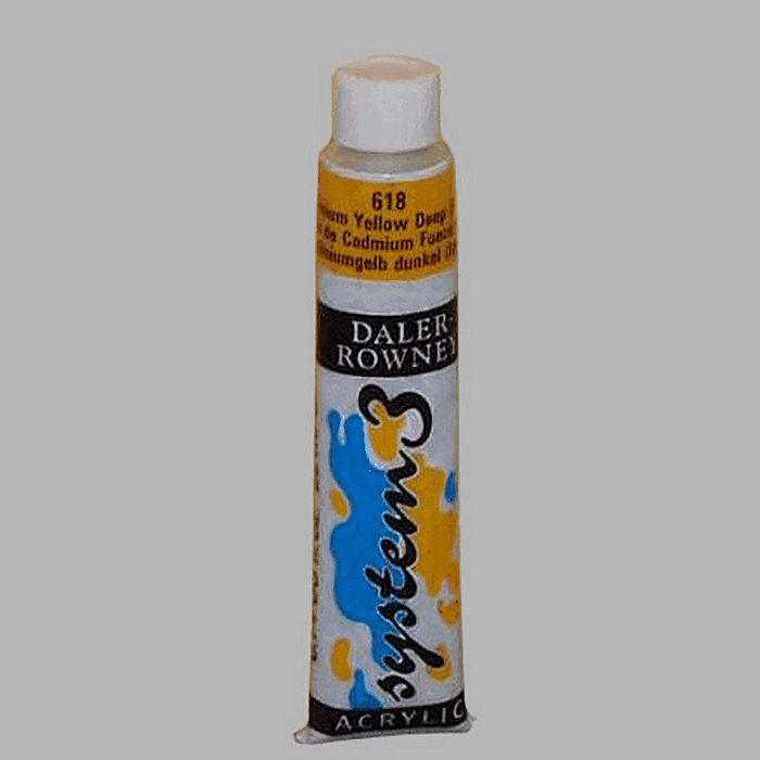 System 3 stencil paint cadmium yellow deep contents 22 ml