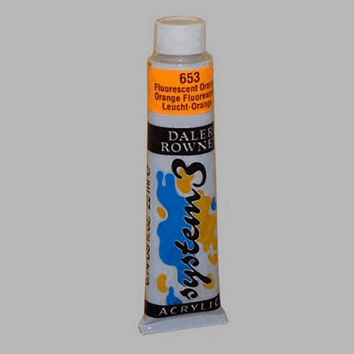 System 3 stencil paint fluorescent orange contents 22 ml