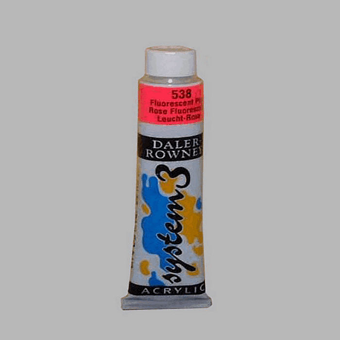 System 3 stencil paint fluorescent pink contents 22 ml