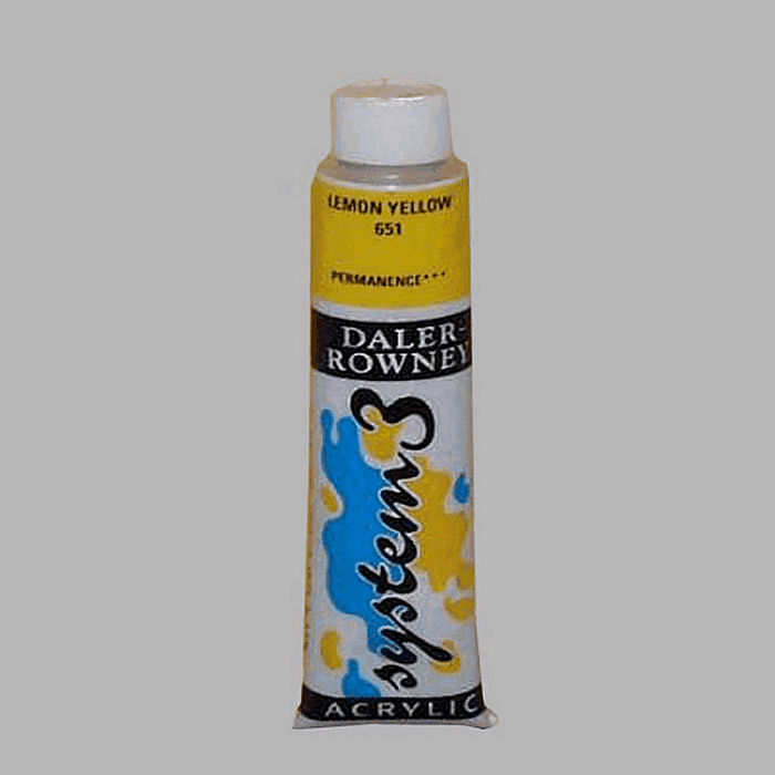 System 3 stencil paint lemon yellow contents 22 ml