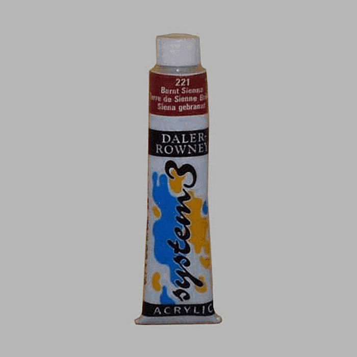 System 3 stencil paint burnt sienna contents 22 ml