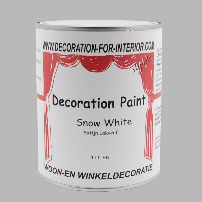 DECORATION PAINT | SNOW WHITE LACQUER PAINT 1 liter