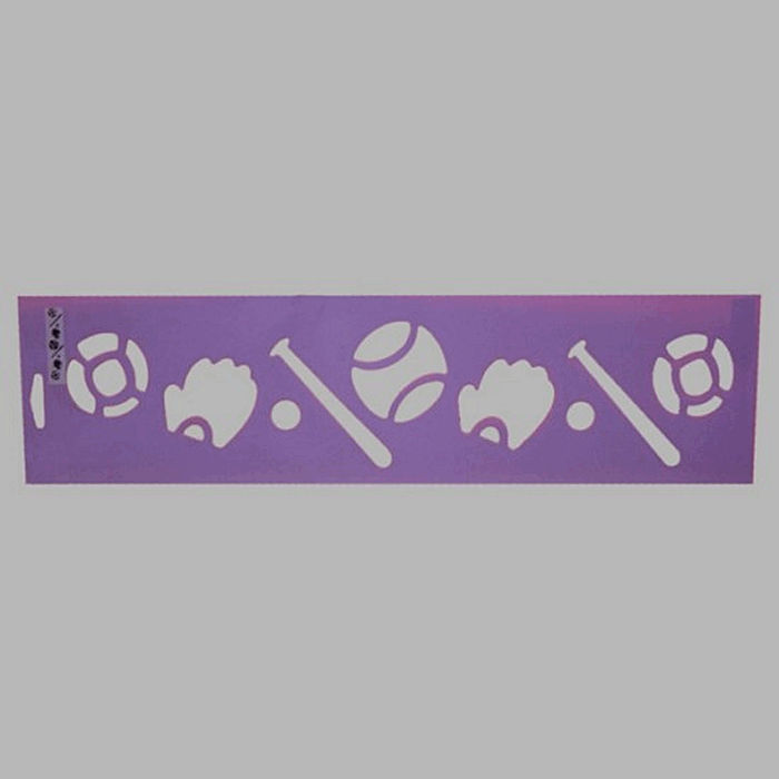 sports attributes stencil color purple 12.5 x 45 cm