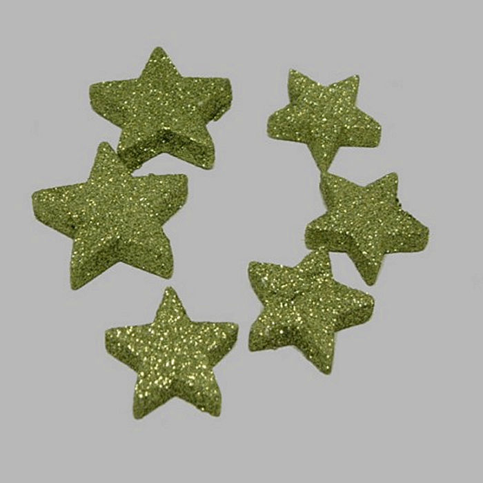 stars for decoration glitter green