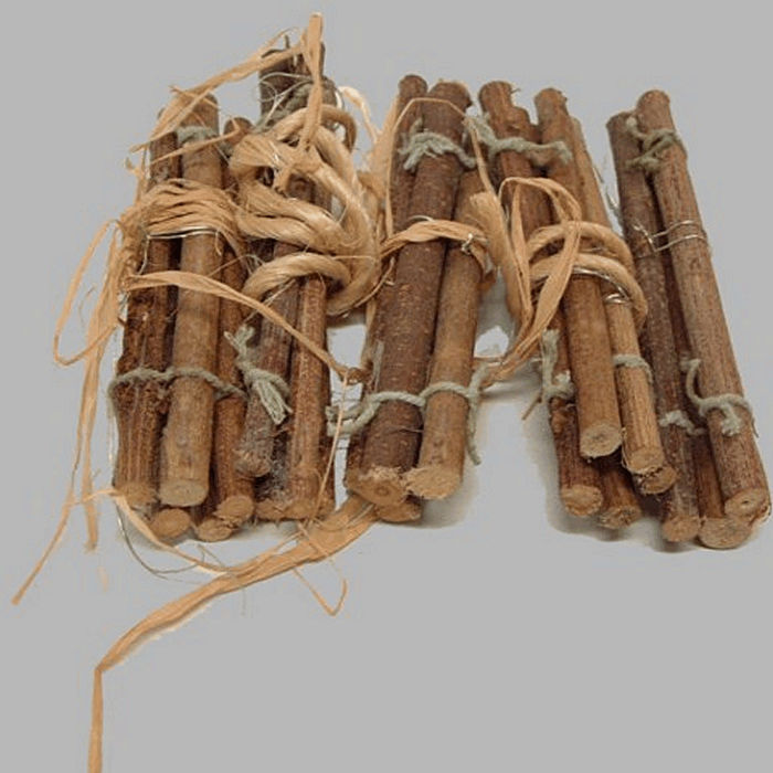 sticks of wood for decoration bundled per 5 pieces L 12 cm