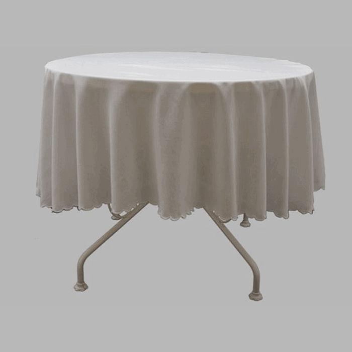 nappe ronde transparente 160 photos de design d. Black Bedroom Furniture Sets. Home Design Ideas