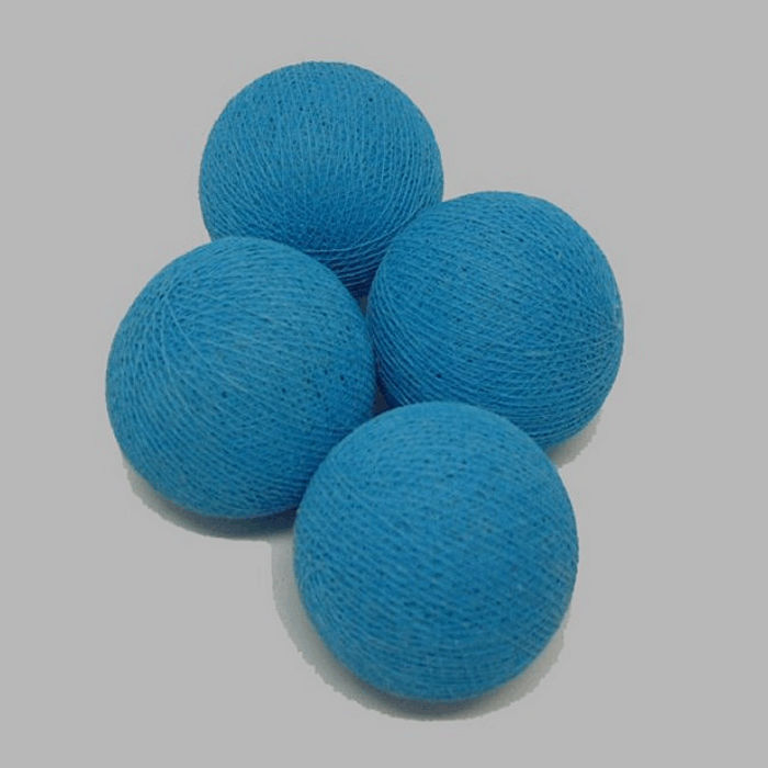 textile ball color blue 60 mm and 4 pieces
