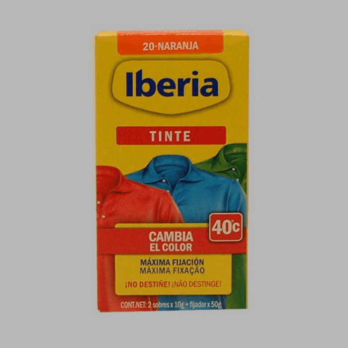Iberia fabric paint orange