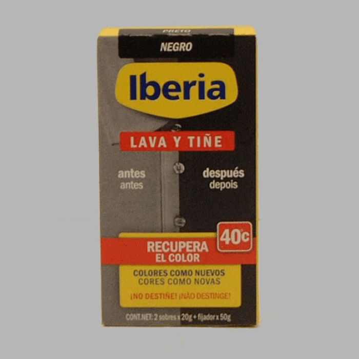 Iberia Wash and Color black