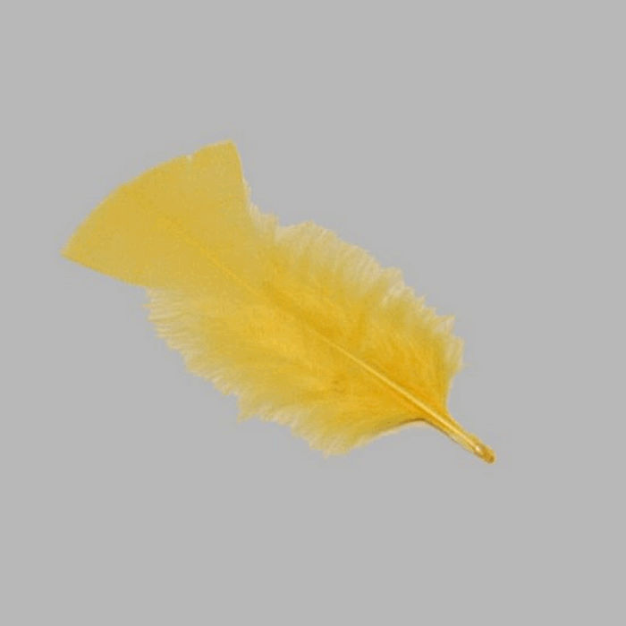 feathers for decoration color spring yellow 15 g