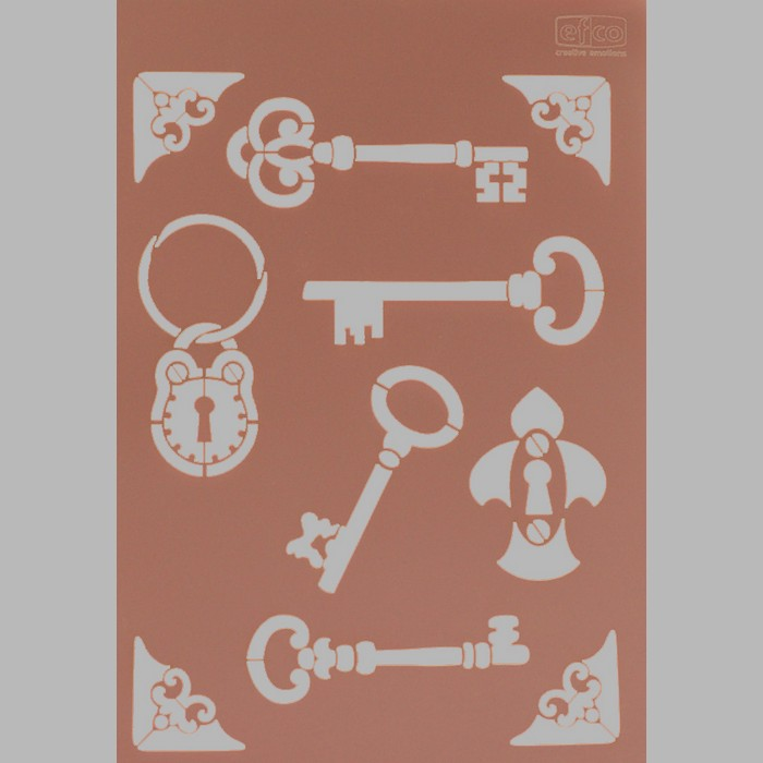 keys and locks transparent 21 x 29,7 cm washable