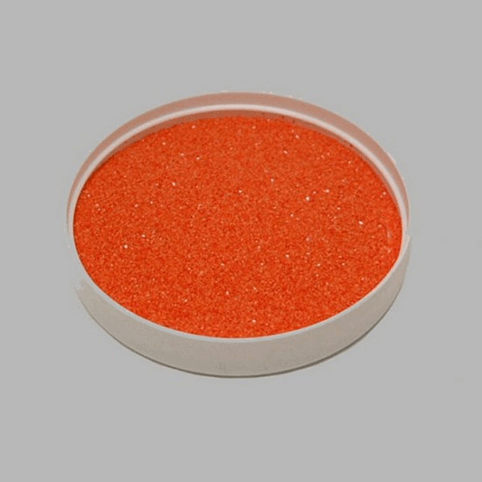 sable de décoration couleur orange 200 gr